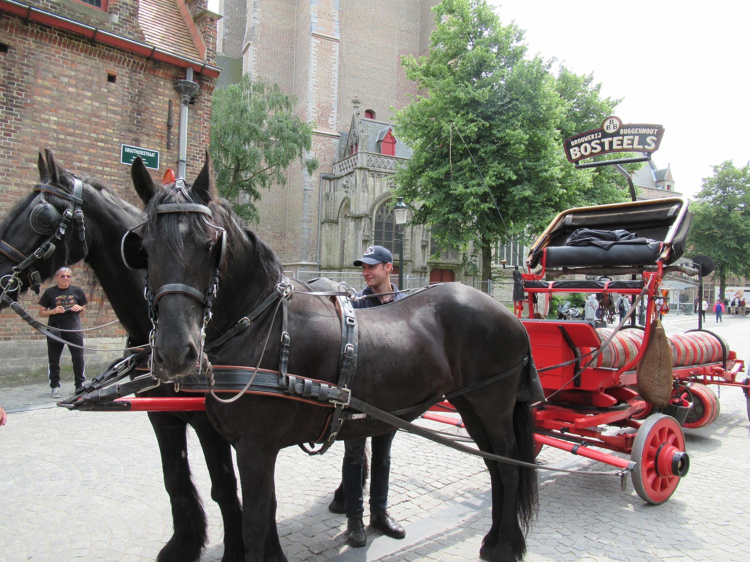 Beer delivery in Bruges