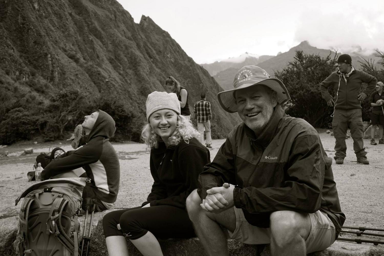 My dad & sister hiking the Inca Trail in Peru.