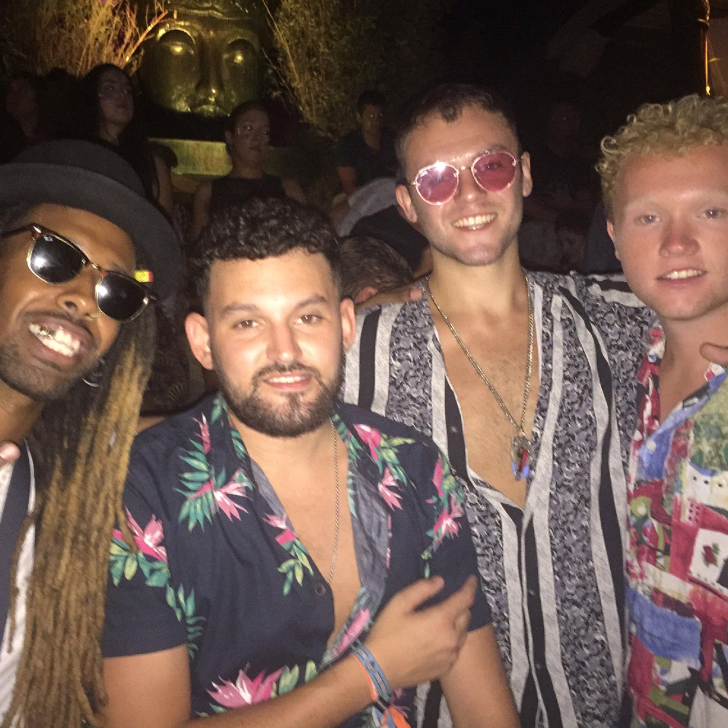 Me with my brothers Bilal, CJ, and John and Woo-Moon Ibiza.