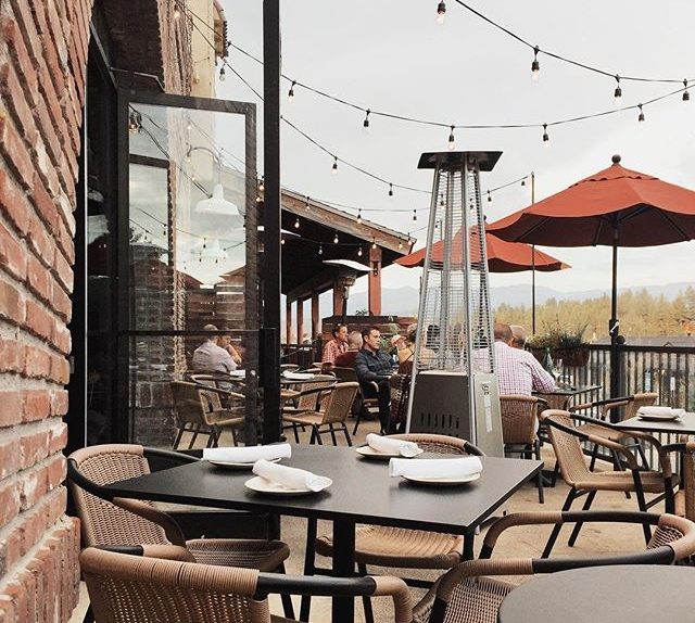 Truckee Tavern's Patio, overlooking Downtown Truckee