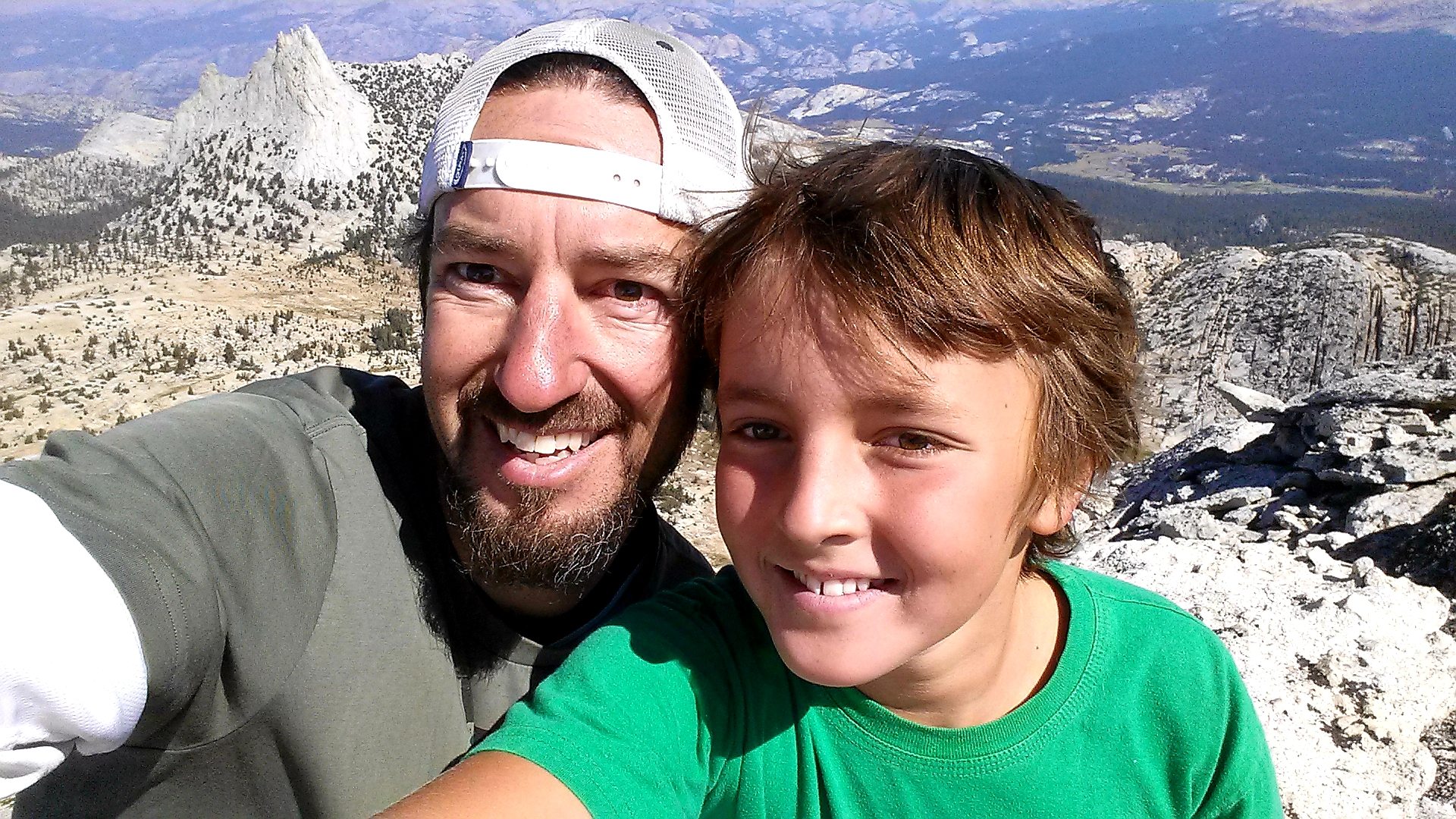 Kramer and son enjoying a beautiful day in Tahoe!