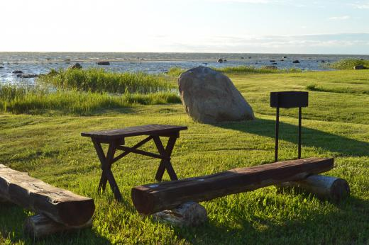 Our grounds and the seashore offer camping sites for many guests. Prepared campfire and barbecue sites are dispersed throughout these areas.