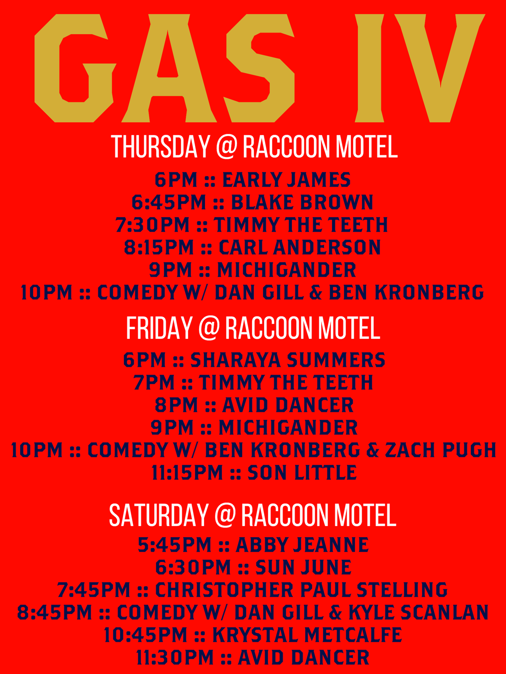 GAS IV Raccoon Schedule.png