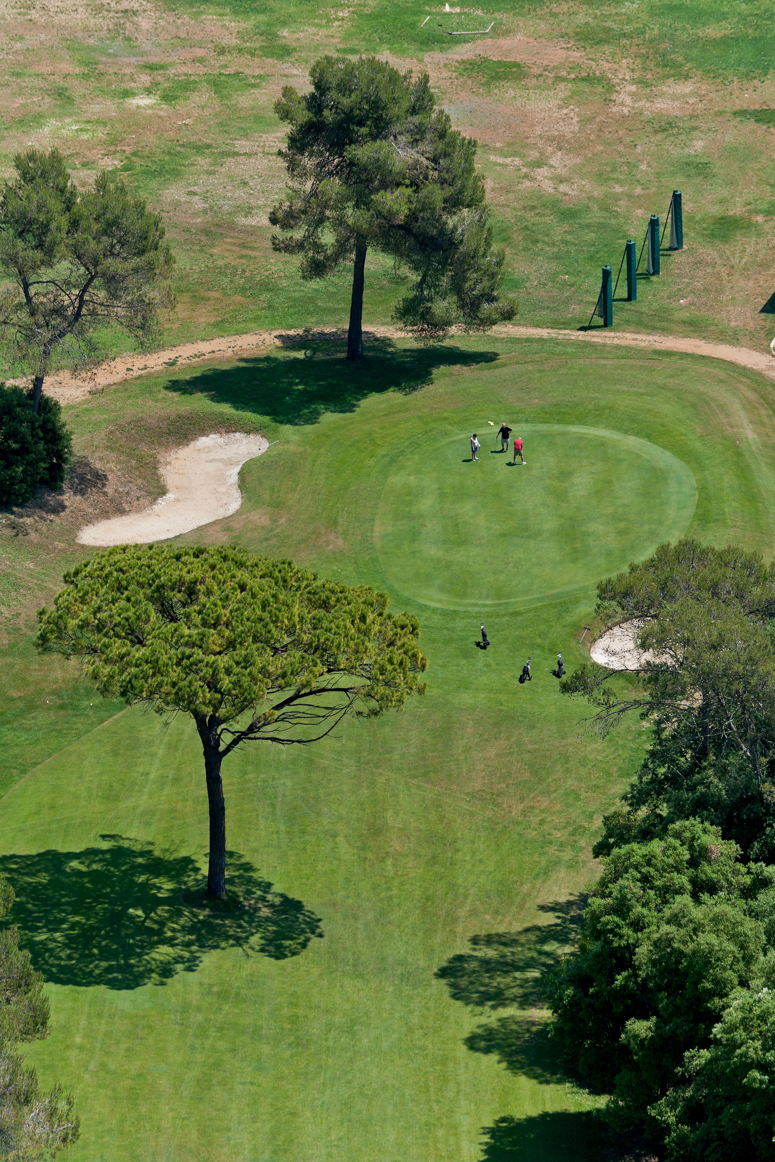 Vue aérienne du Victoria Golf Club, à Valbonne