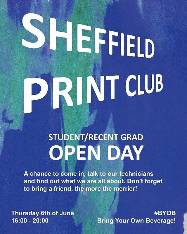 🌟TOMORROW🌟  Finished university? Need a printing studio?  We have an open day for students and recent graduates... 🔸 🔸  #sheffieldprintclub #sheffieldprintstudio #sheffieldscreenprinting