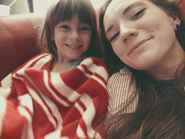 Me & my other best girl Evie 💕 watching the Incredibles 2 after a full day shopping 🛍👯🍧