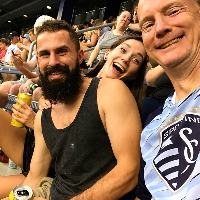 #latergram from Saturday night's Sporting KC game with the 2 men who love me most 💕