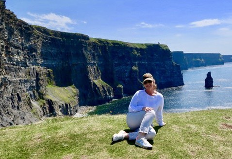 Just received this pic from my trip to Ireland earlier this year-#cliffsofmoher #bravesoul #sunshineallthetime