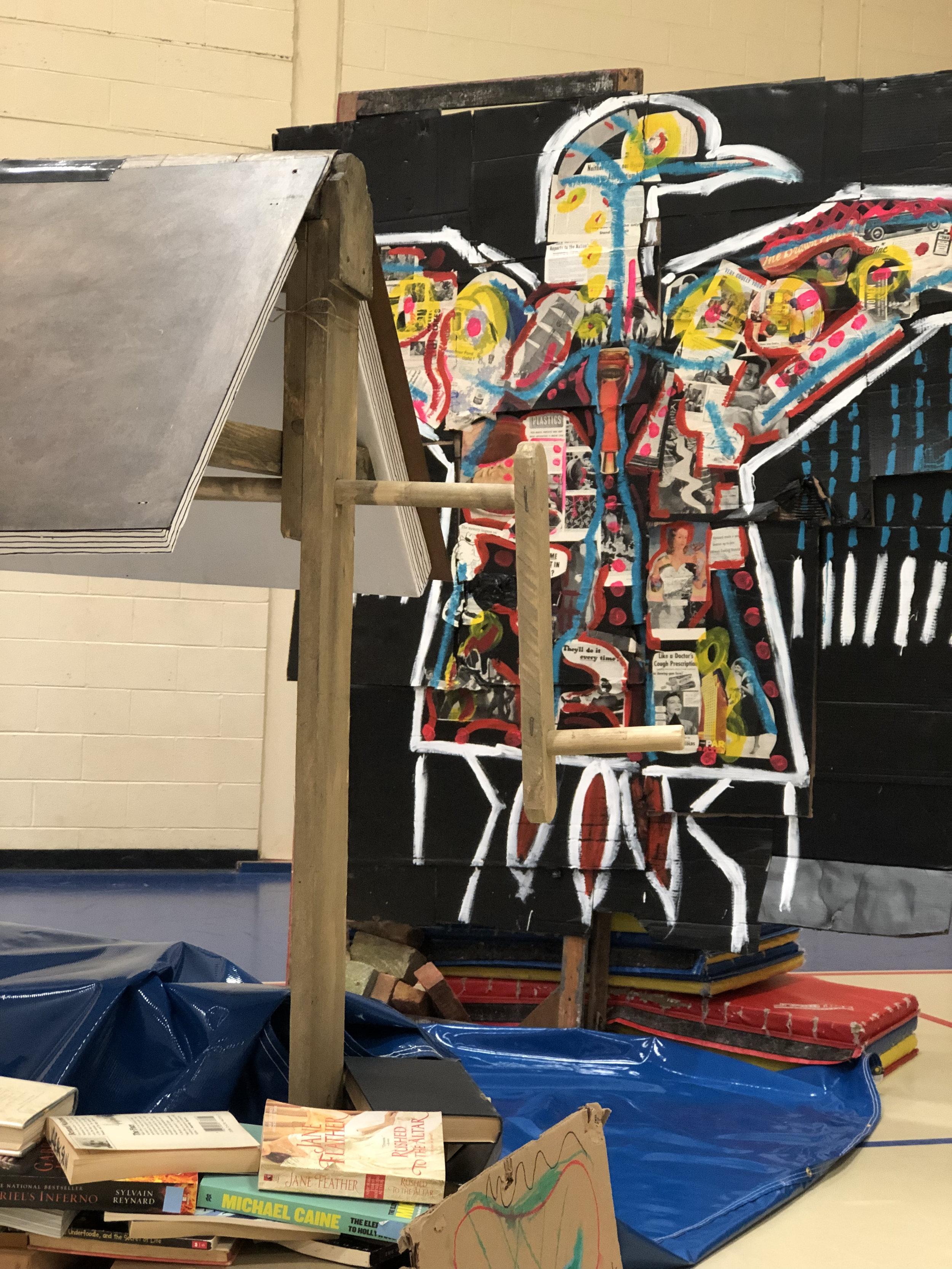 ElOsoAzul's Cardboard Arroyo of Mythical Creatures - Belchertown Art week Art Walk: April 28th 2019