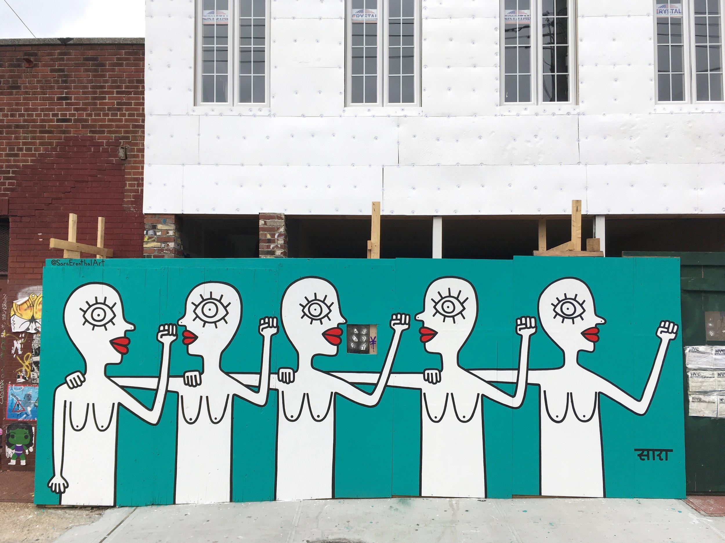 Mural in Bushwick, Brooklyn NY  2018