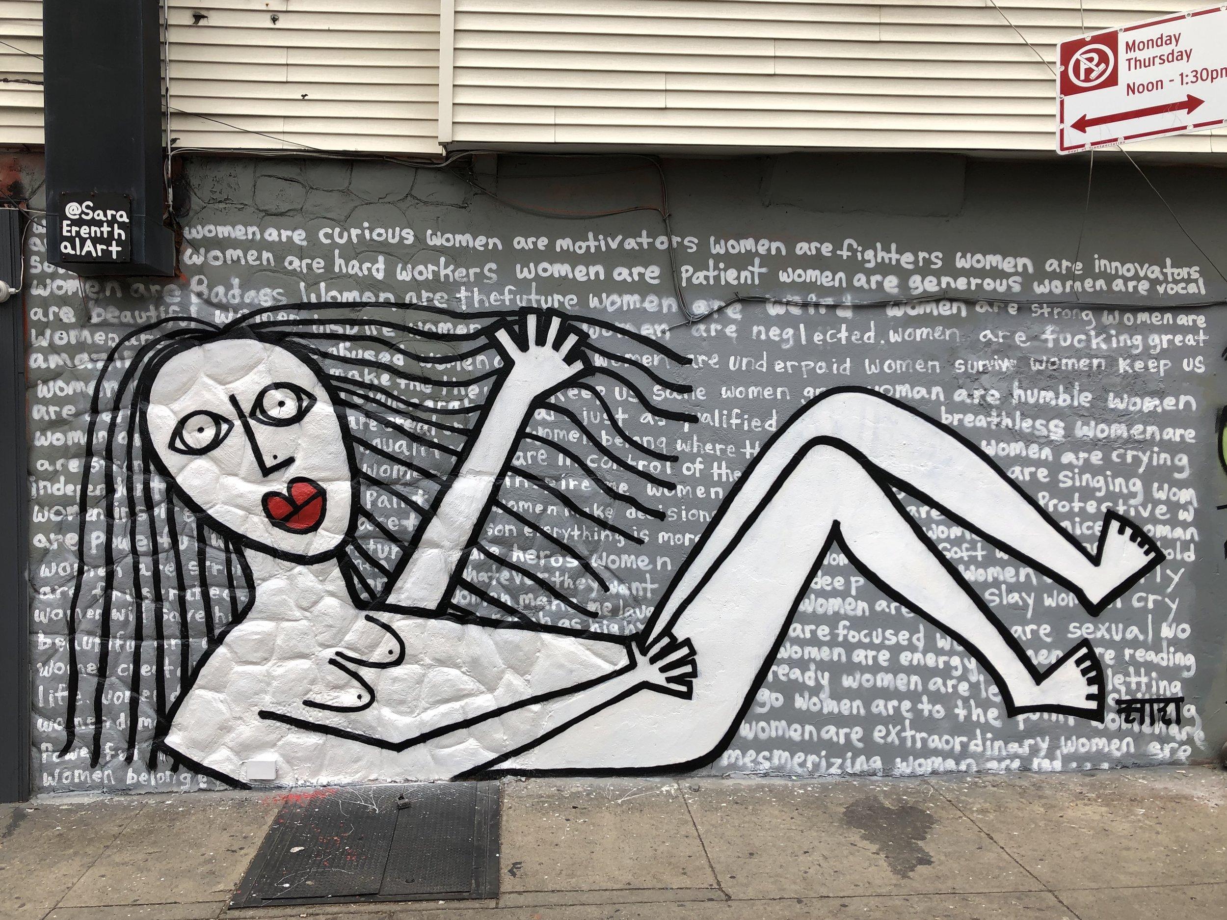 Mural in Bushwick, Brooklyn NY  2019