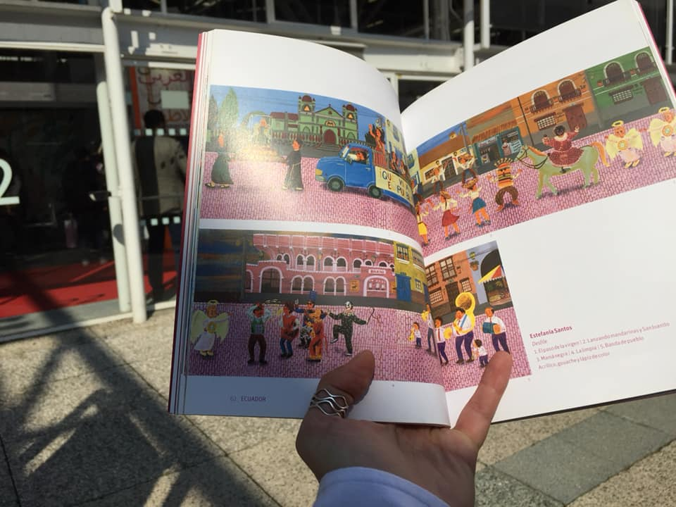 I received my Iberoamerica Ilustra 8th catalogue at the Mexican stand in BCBF 2018