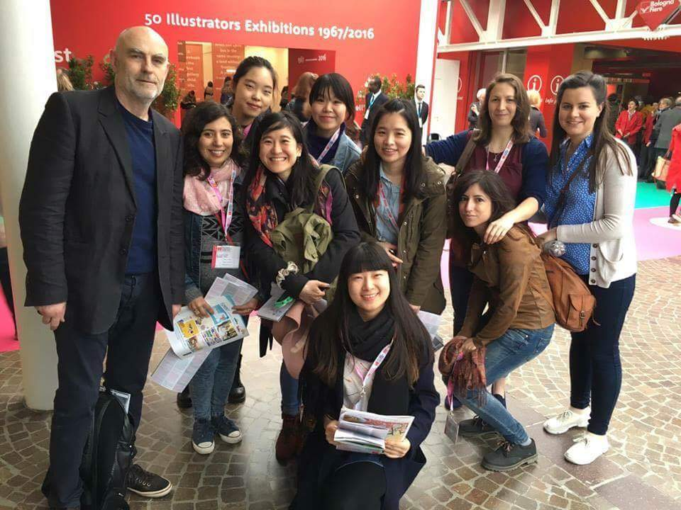 Me, my classmates and our professor Martin Salisbury at BCBF 2016