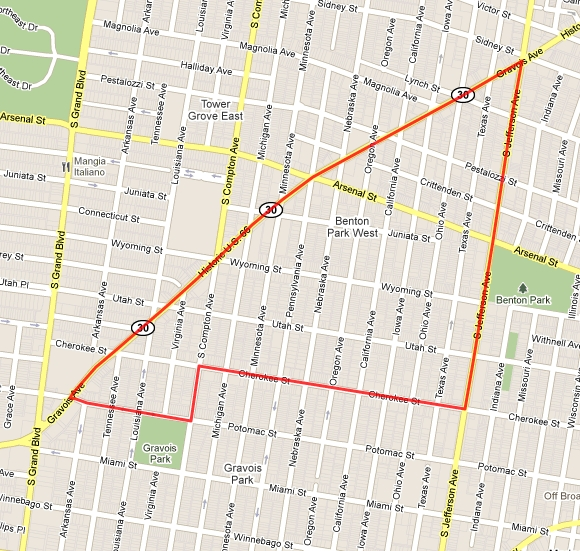 One of the neighborhoods I scoped out was Benton Park West