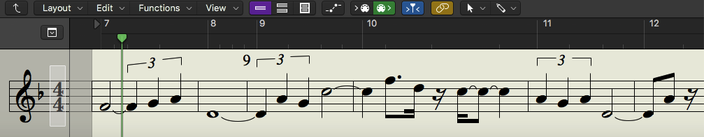 A melodic motif that is played by the Xiao. I might treat this like a theme, or possibly a counter melody to an Erhu part.