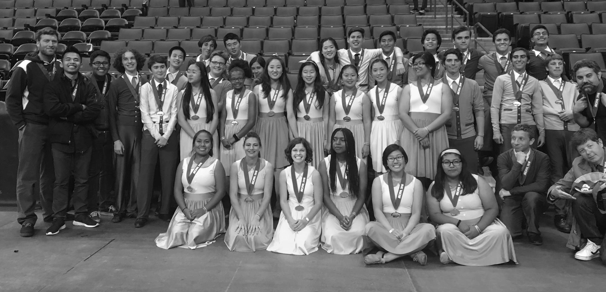 Palisades Charter     Sisyphus In The Underworld (2017) –SCPA Scholastic A Finalist  Hysteria: 1951!! (2016) –SCPA Scholastic A Silver Medalist /WGI Western Championship Scholastic A Bronze Medalist    Mira Costa     To Build A Fire (2016) –SCPA Scholastic A     Gahr  (guest clinician - Front Ensemble)      The Voyage (2016) – SCPA Scholastic A / ADLA Scholastic Open     Ross Middle School  (guest clinician - Front Ensemble)      Prototype (2016) – ADLA Junior Silver Medalist     Santa Ana     To See The Forest Through The Trees (2016) – ADLA Scholastic A  iHuman (2015) – ADLA Scholastic A Finalist     El Segundo     The Eye in the Pyramid (2015) – ADLA Scholastic A Finalist  Coma (2014) – ADLA Scholastic A  Puppet: Society's Control (2013) – ADLA Scholastic B     Chaminade     outKast (2014) – ADLA Scholastic B  Eruption (2013)  – ADLA Scholastic C     Beverly Hills     The Chase (2014) Drumline Robot (2013)      Palos Verdes     The Constant (2012) –ADLA Scholastic C Finalist  Rolling Blackout (2011) –DAC Division II Combined Sweepstakes