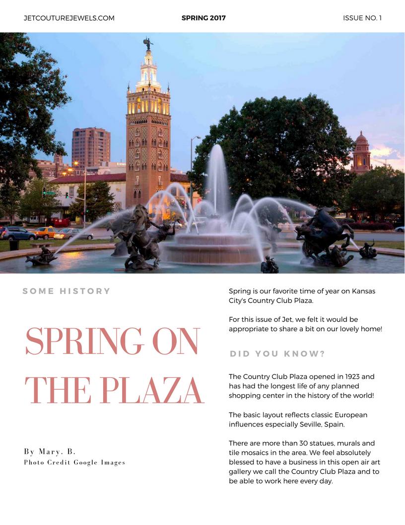 Jet Spring Newsletter Spring on the Plaza
