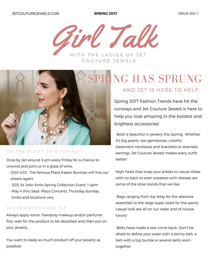 Jet Spring Newsletter Girl Talk