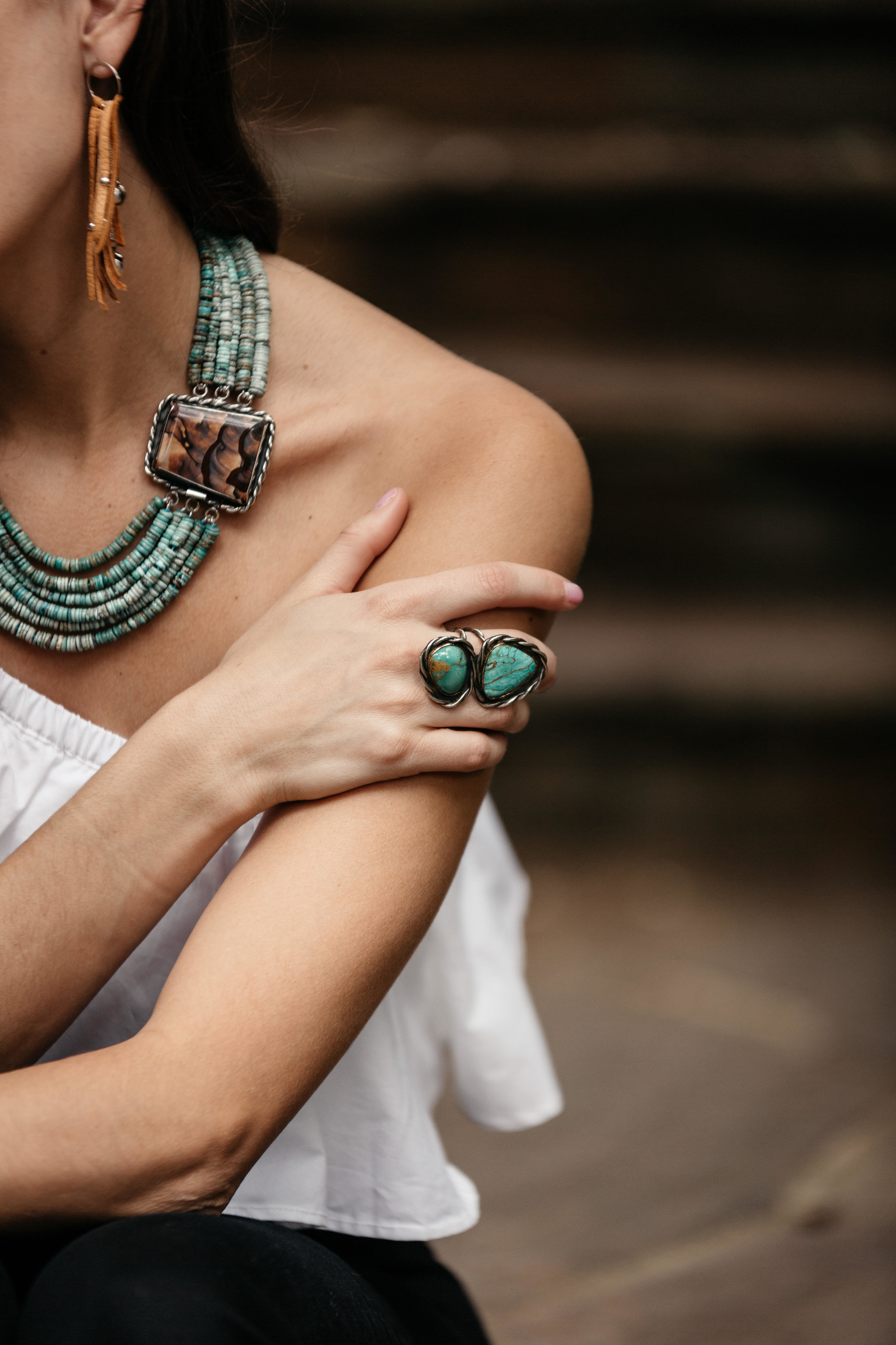 It's a statement piece worthy of the desert color palette, and it's the perfect piece for Fall.