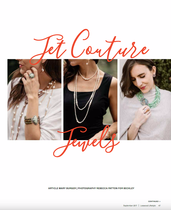 Leawood Lifestyle Magazine Spread Jet Couture Jewels Country Club Plaza