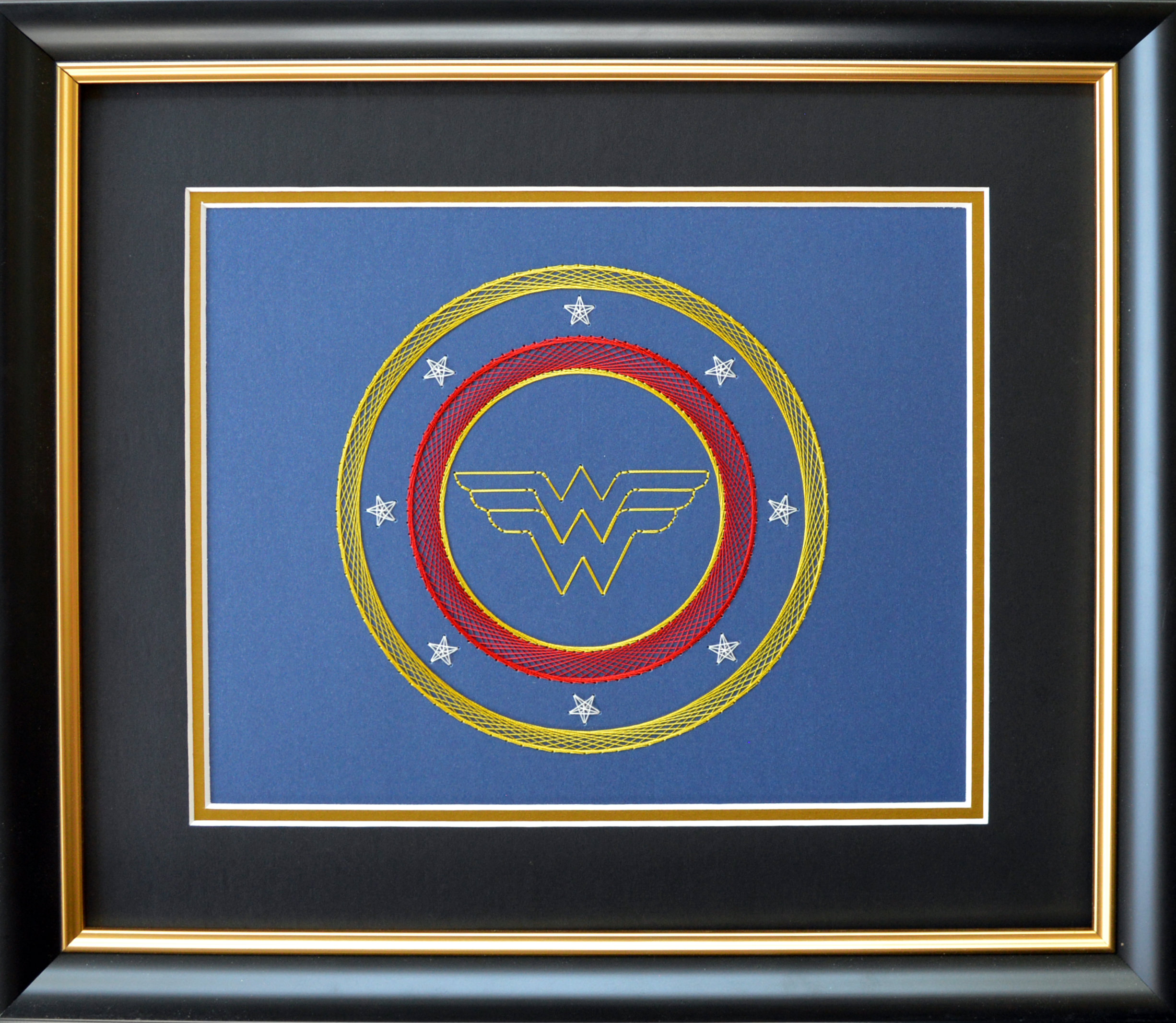 Completed Card Embroidery - Wonder Woman Blue.jpg
