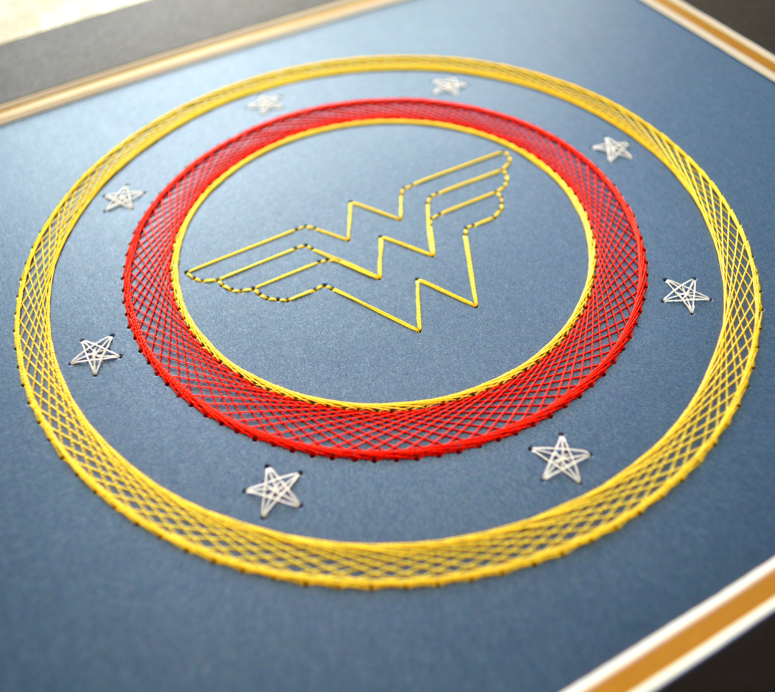 Wonder Woman Card Embroidery