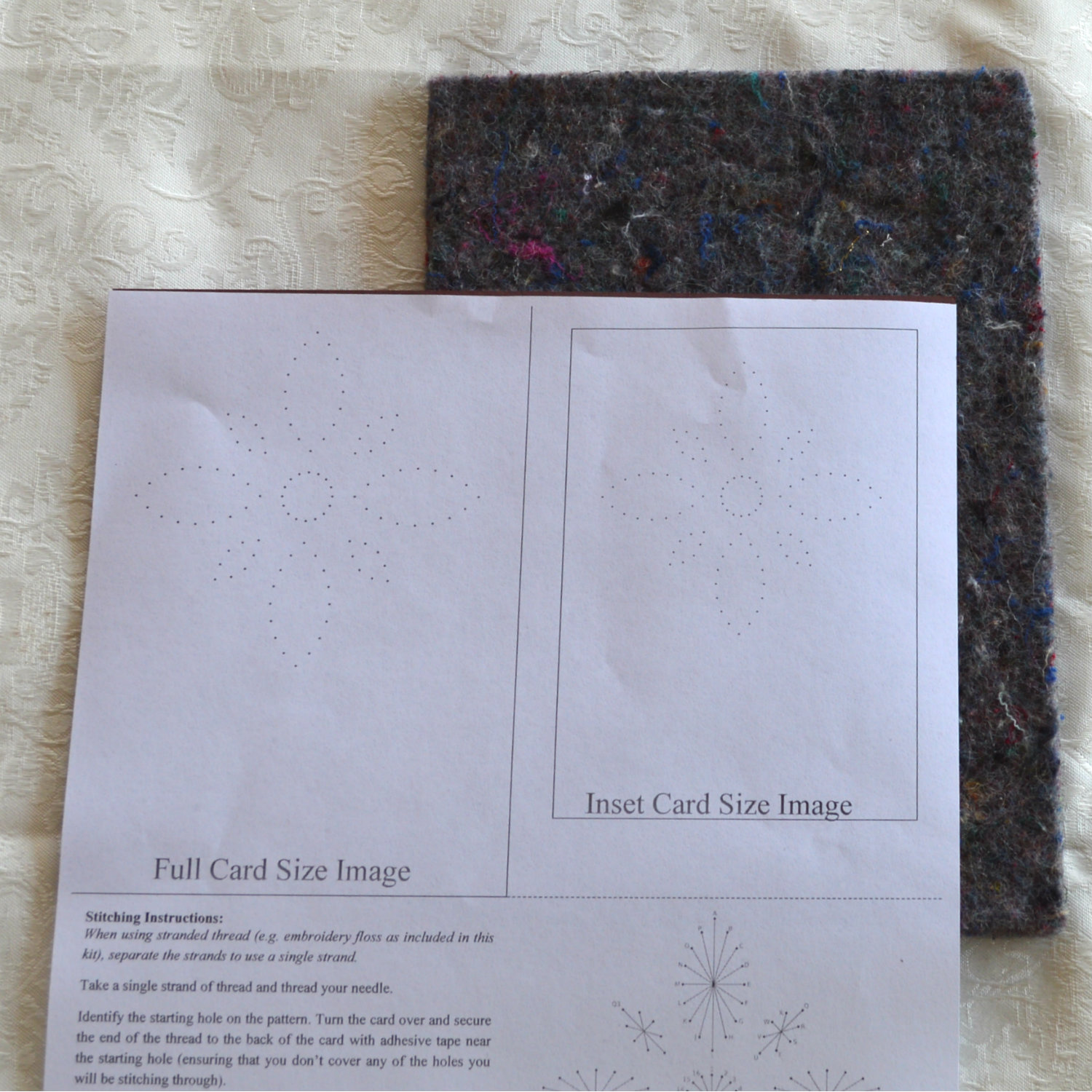 Card Embroidery Pattern Placement