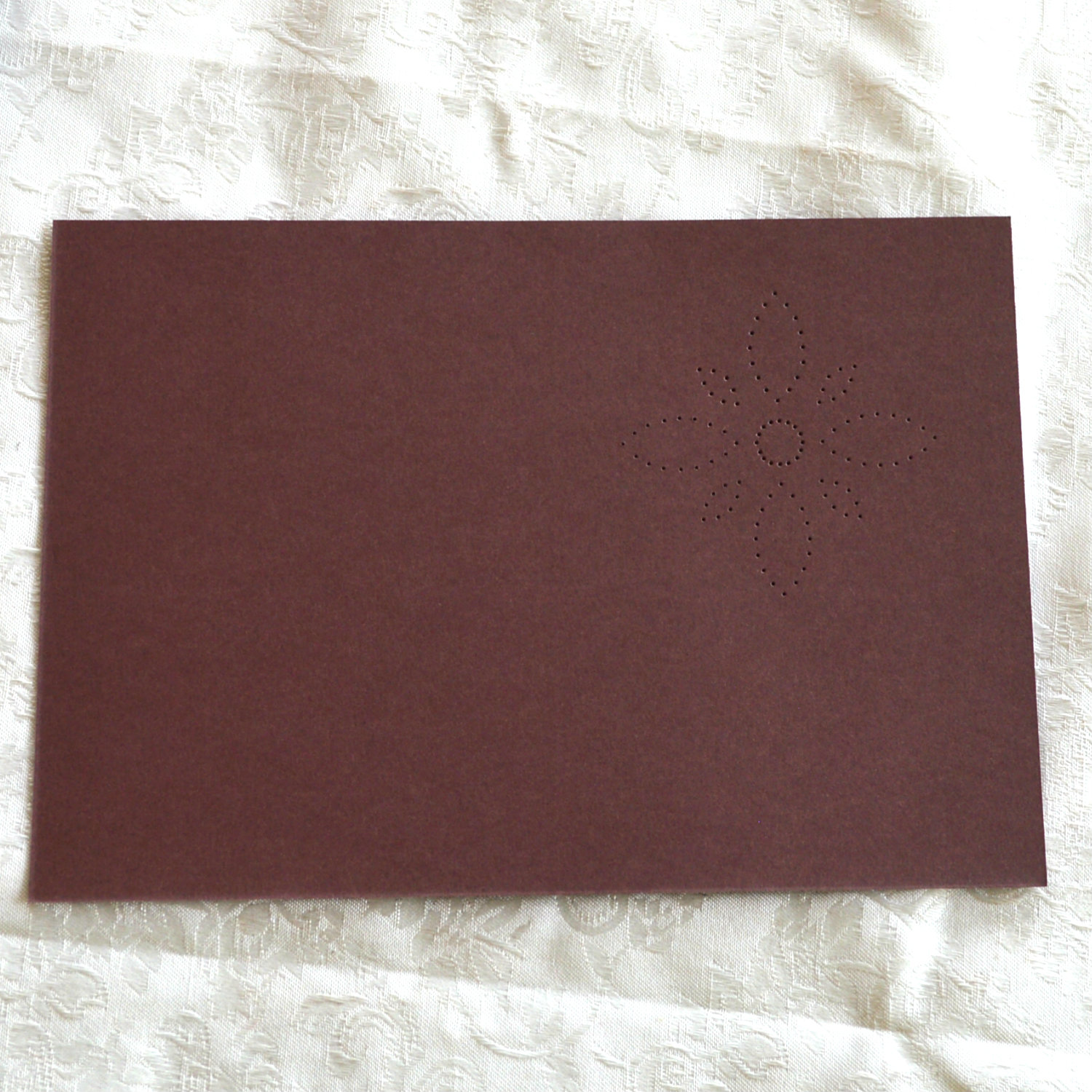 Pricked Card Embroidery Card (Front)