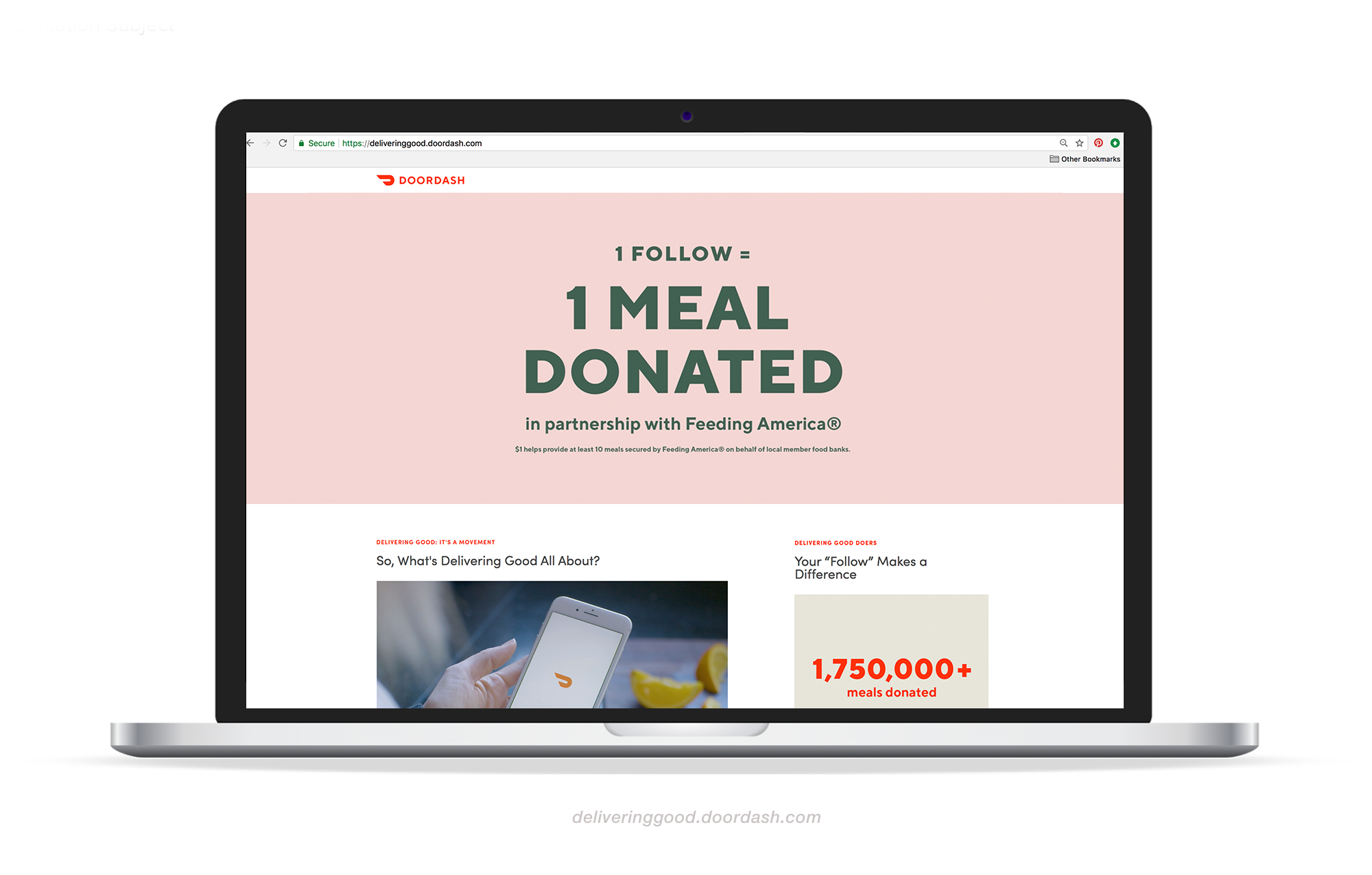 Delivering Good' a DoorDash campaign — Alosha Shkolnik