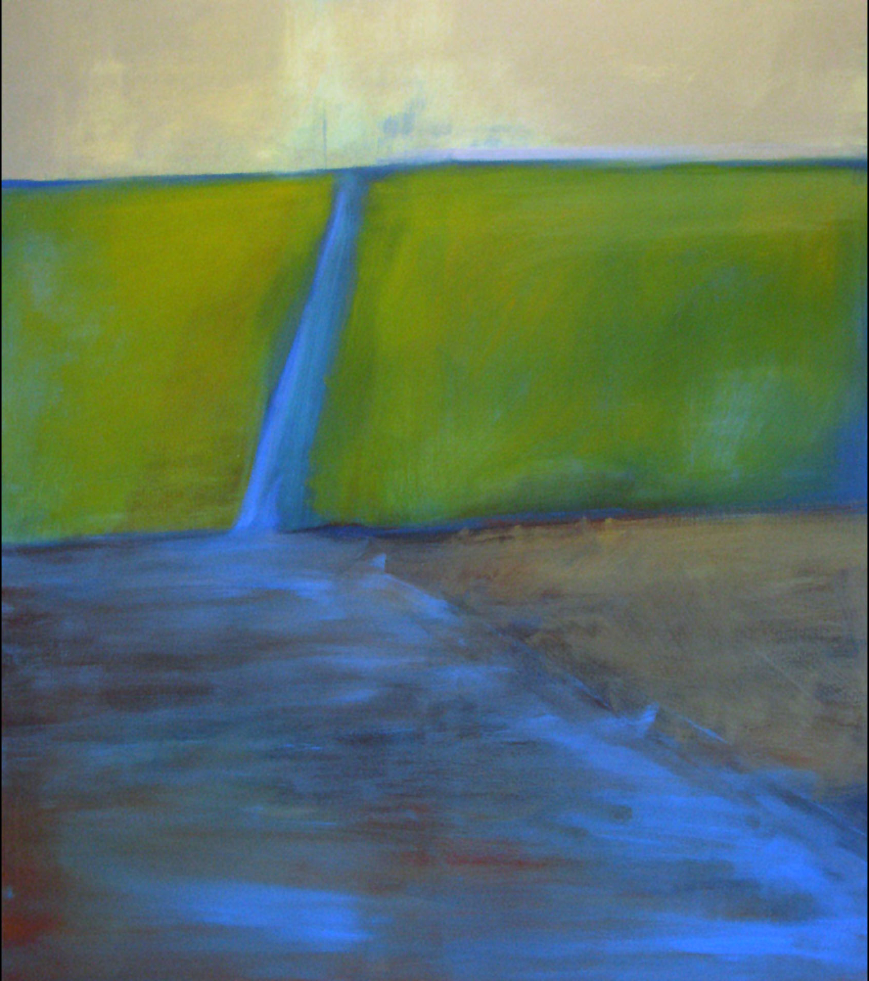 Ditch, oil on canvas