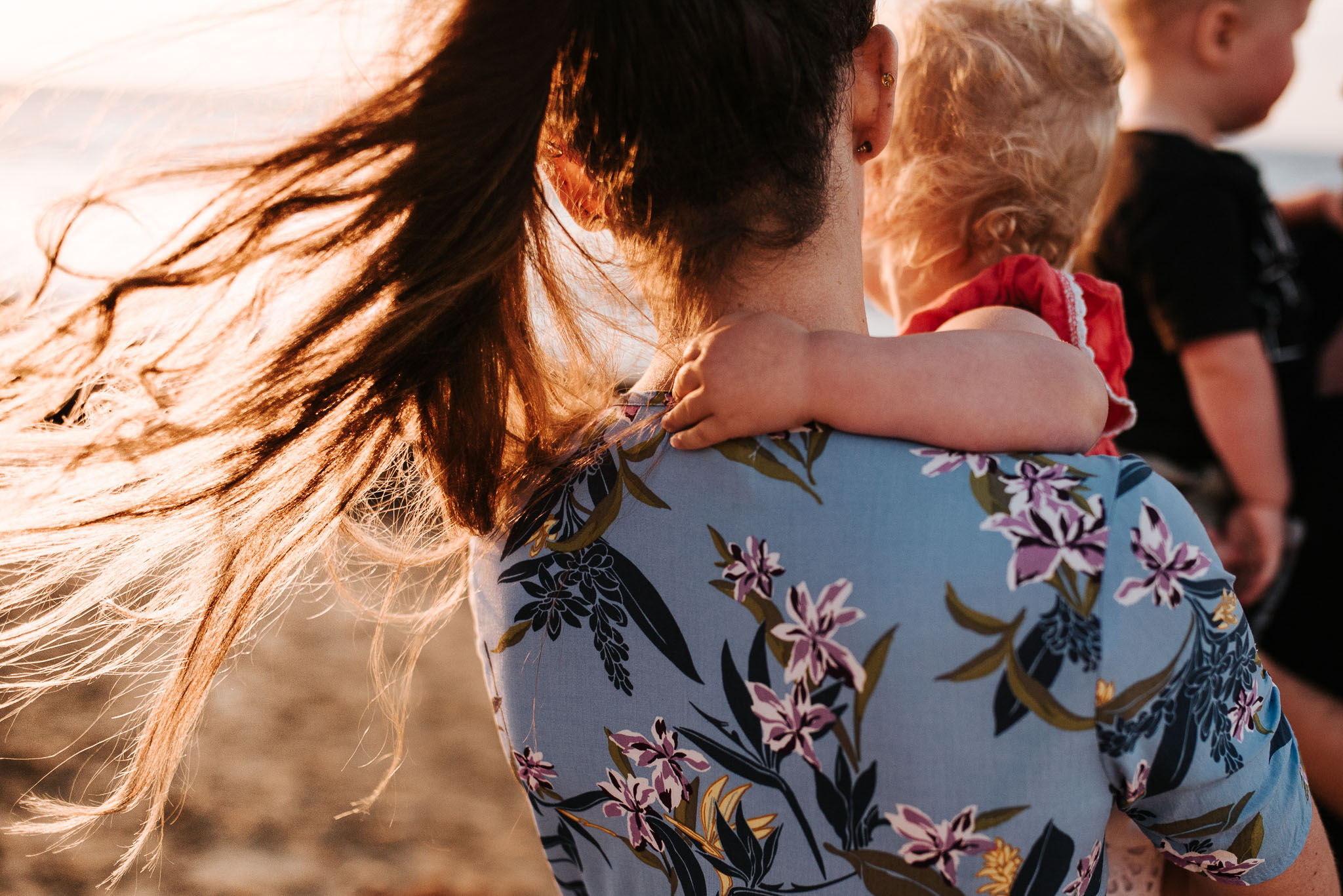 family photography on the beach in melbourne