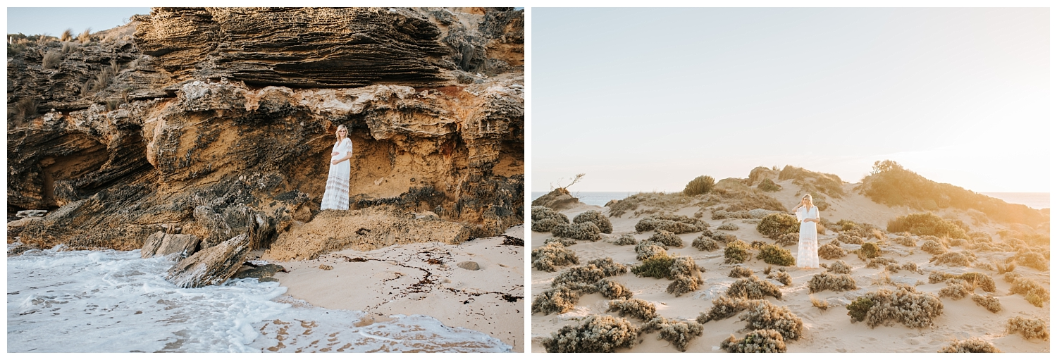 beautiful beach location for maternity photos in melbourne