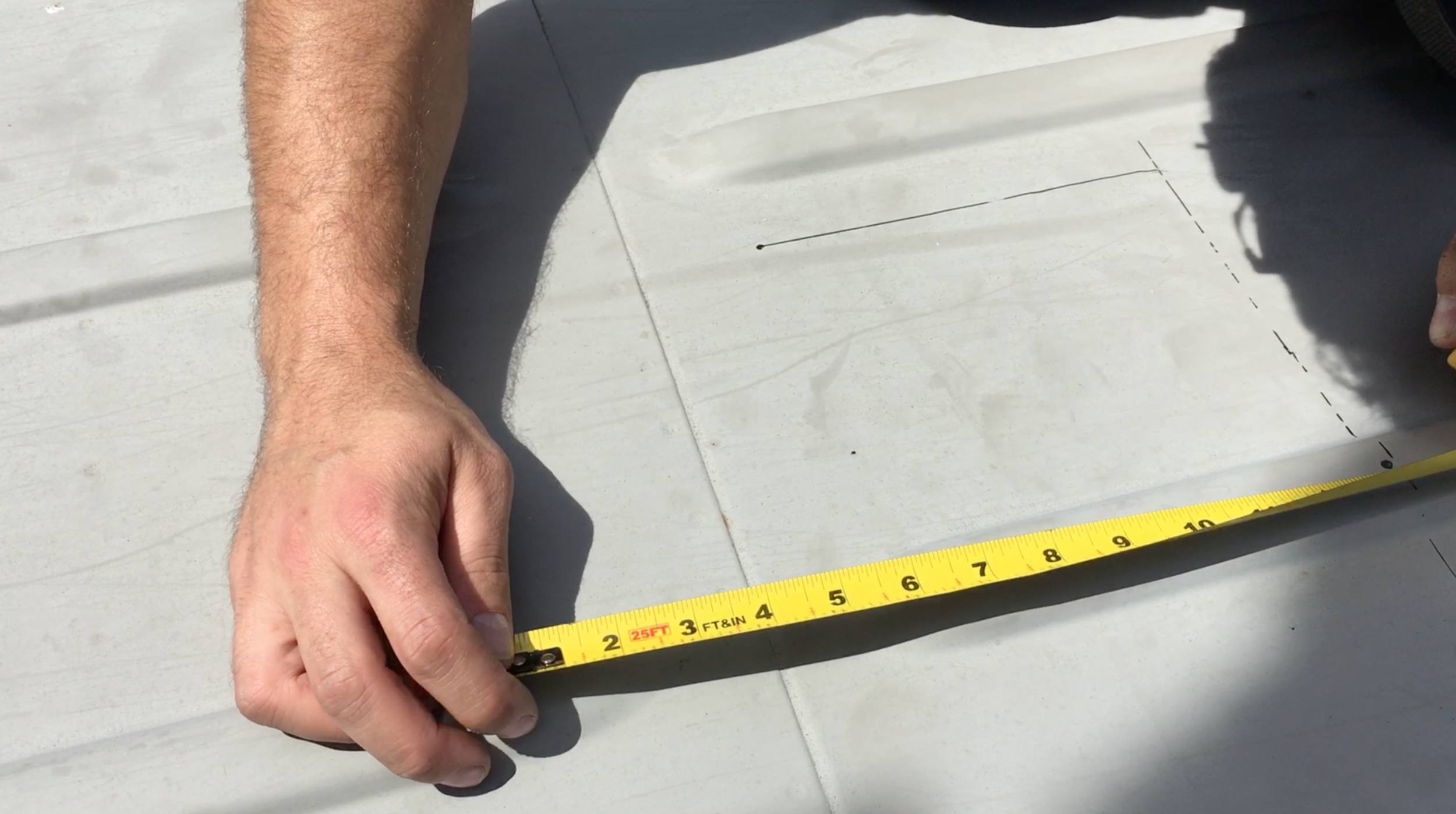 Measure and mark your lines!