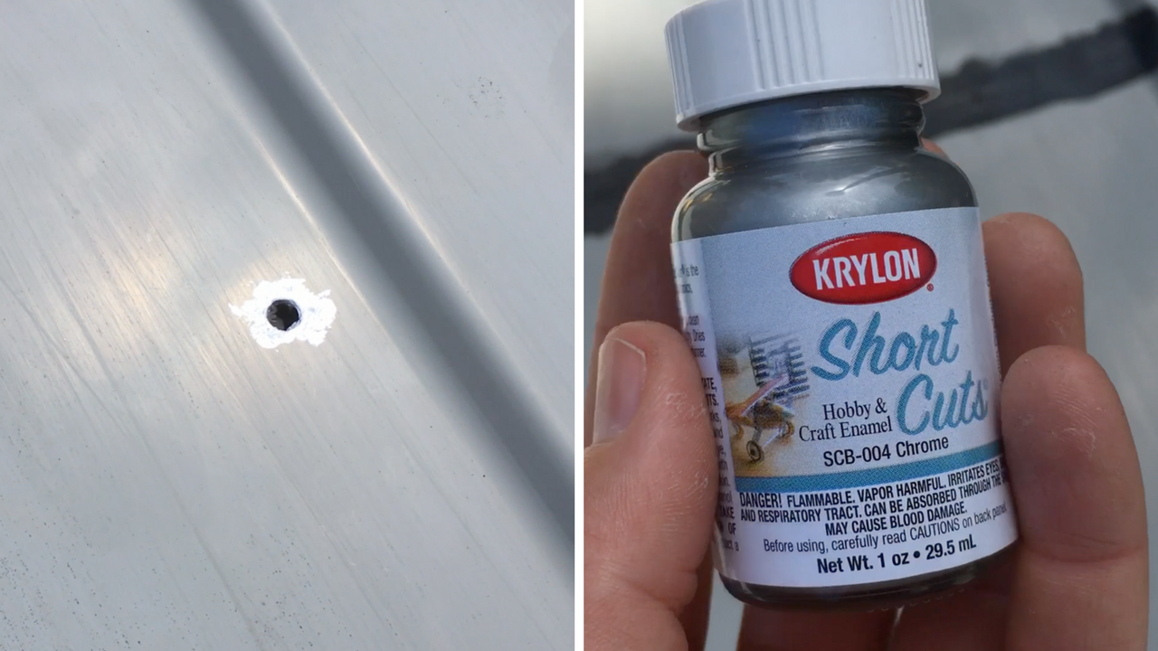Drill holes and paint around the edges to prevent rust