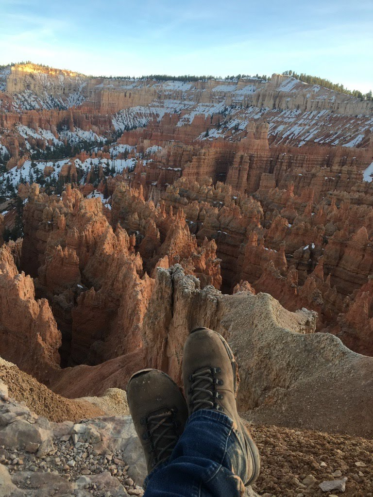 One Chick Travels boots Bryce Canyon