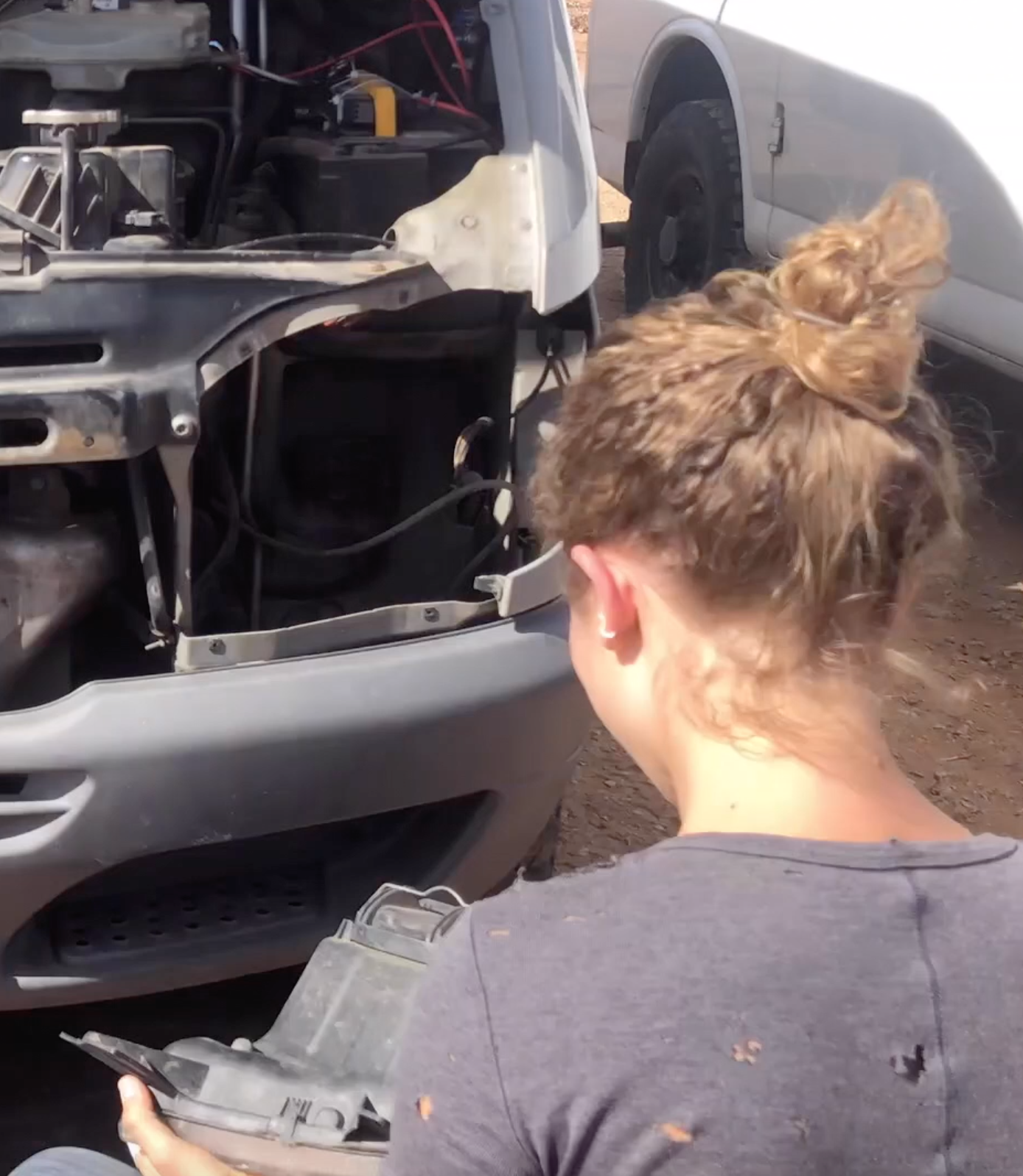 One Chick Travels remove headlight