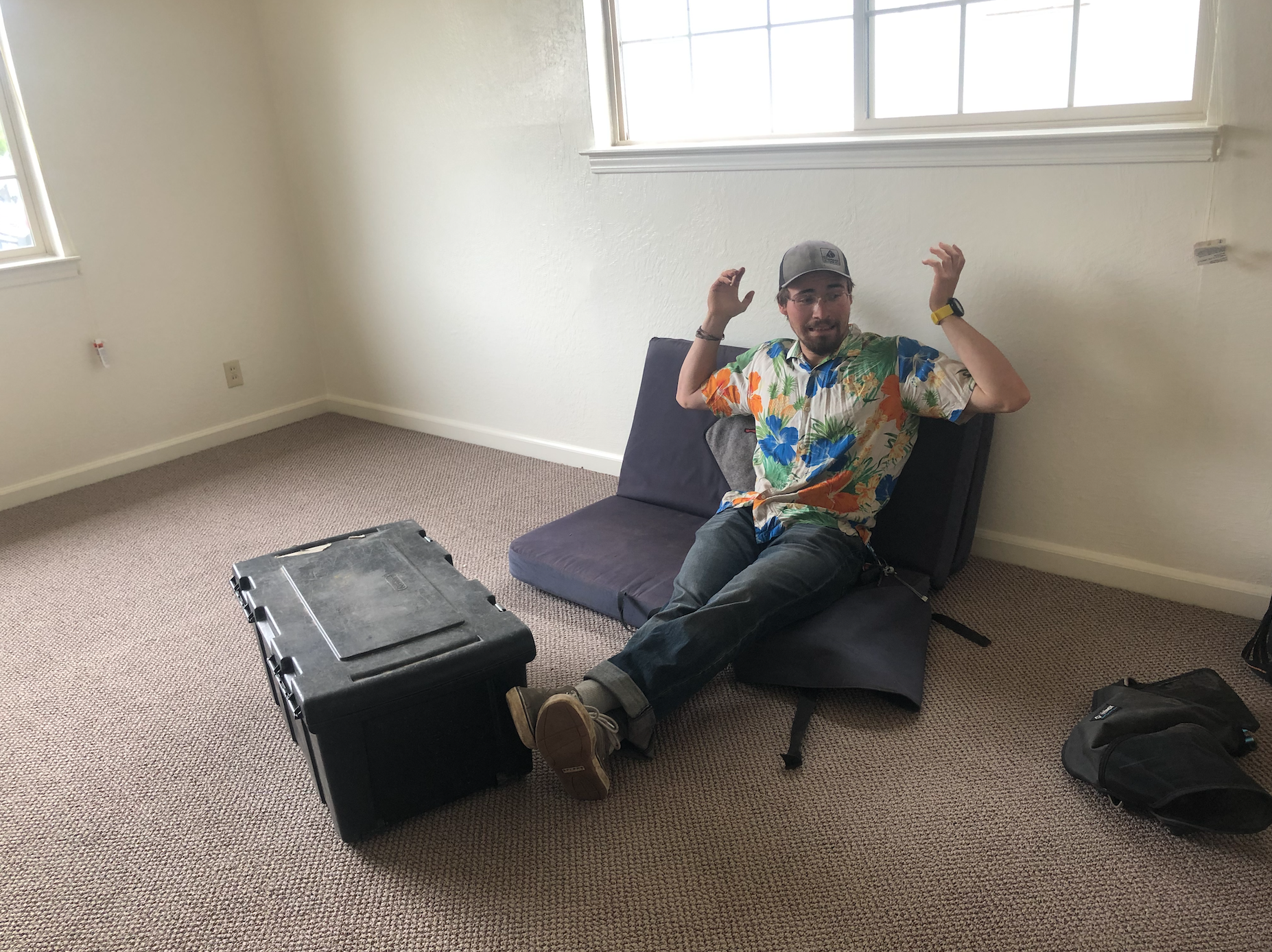 Mike in the new house
