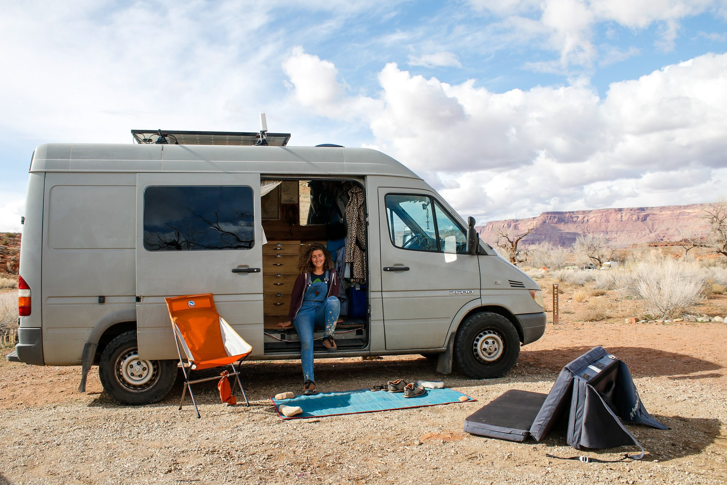 One Chick travels Lyra at Indian Creek Campground