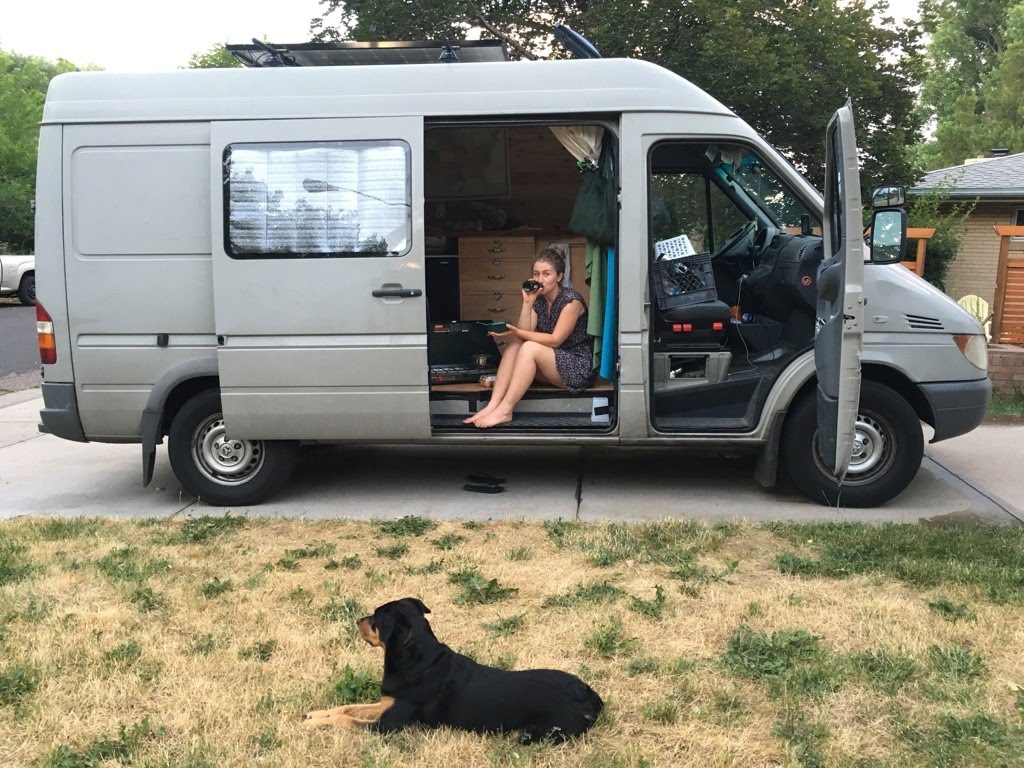 June 2016 on my first road trip in the van