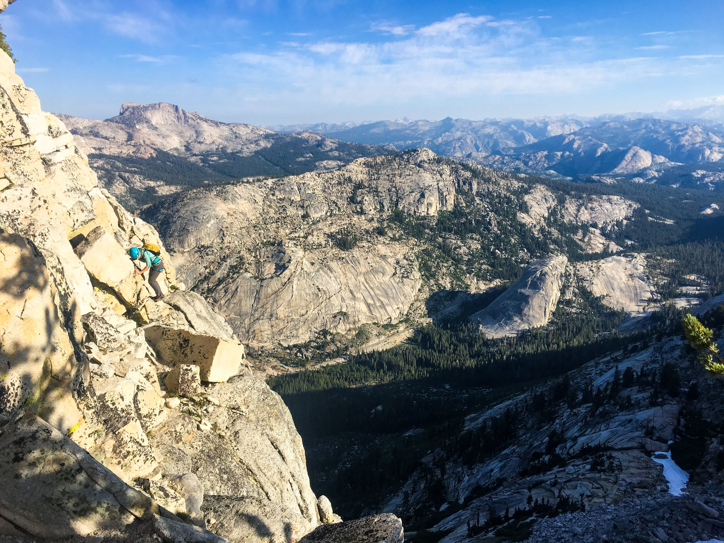 Kaya Climbs up Tenaya Peak