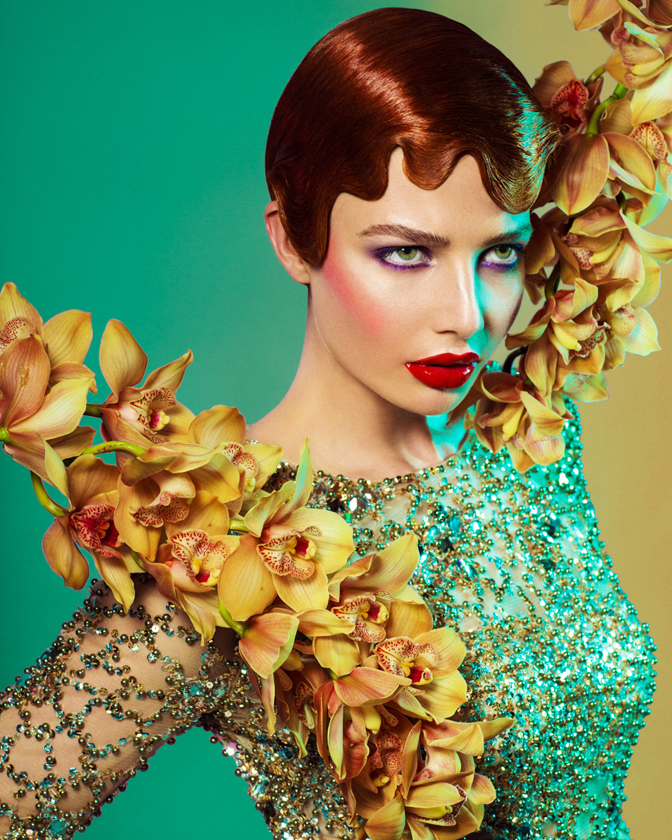 A shot from Michael Beel's winning portfolio for New Zealand Hairdresser of the Year 2015   Makeup:Kiekie Stanners Photo:Jessica Sim Styling:Dan Ahwa