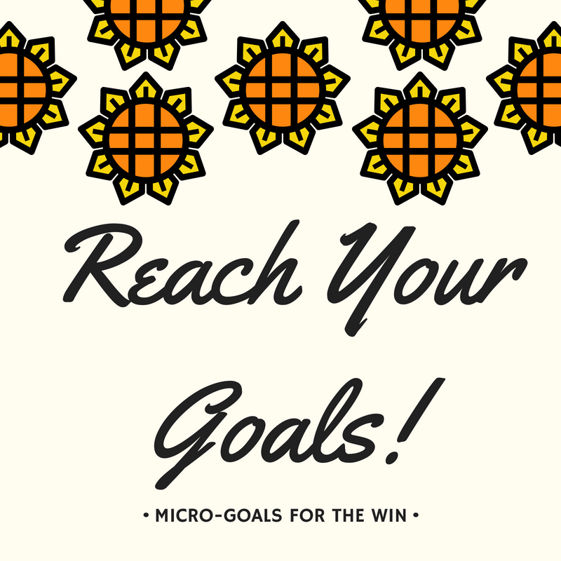 Do you make goals & then... - struggle to achieve them? Or, perhaps even forget about the goal you made?