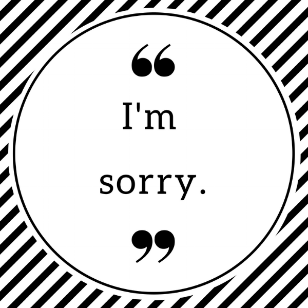 Why I'm not saying sorry - anymore...