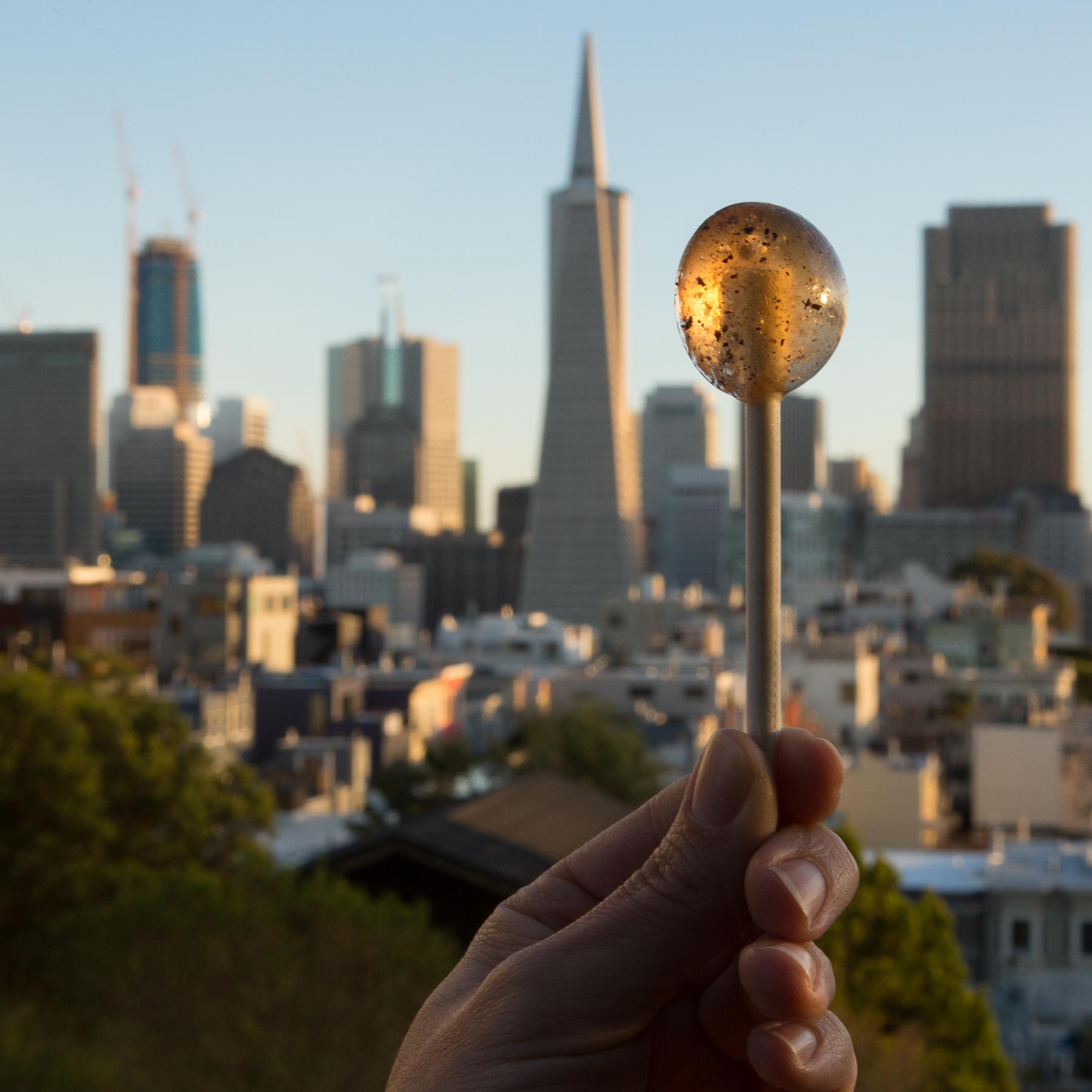 Half Lit Cannabis-Infsued Organic Lollipop San Fransisco Calming Caramel.jpg