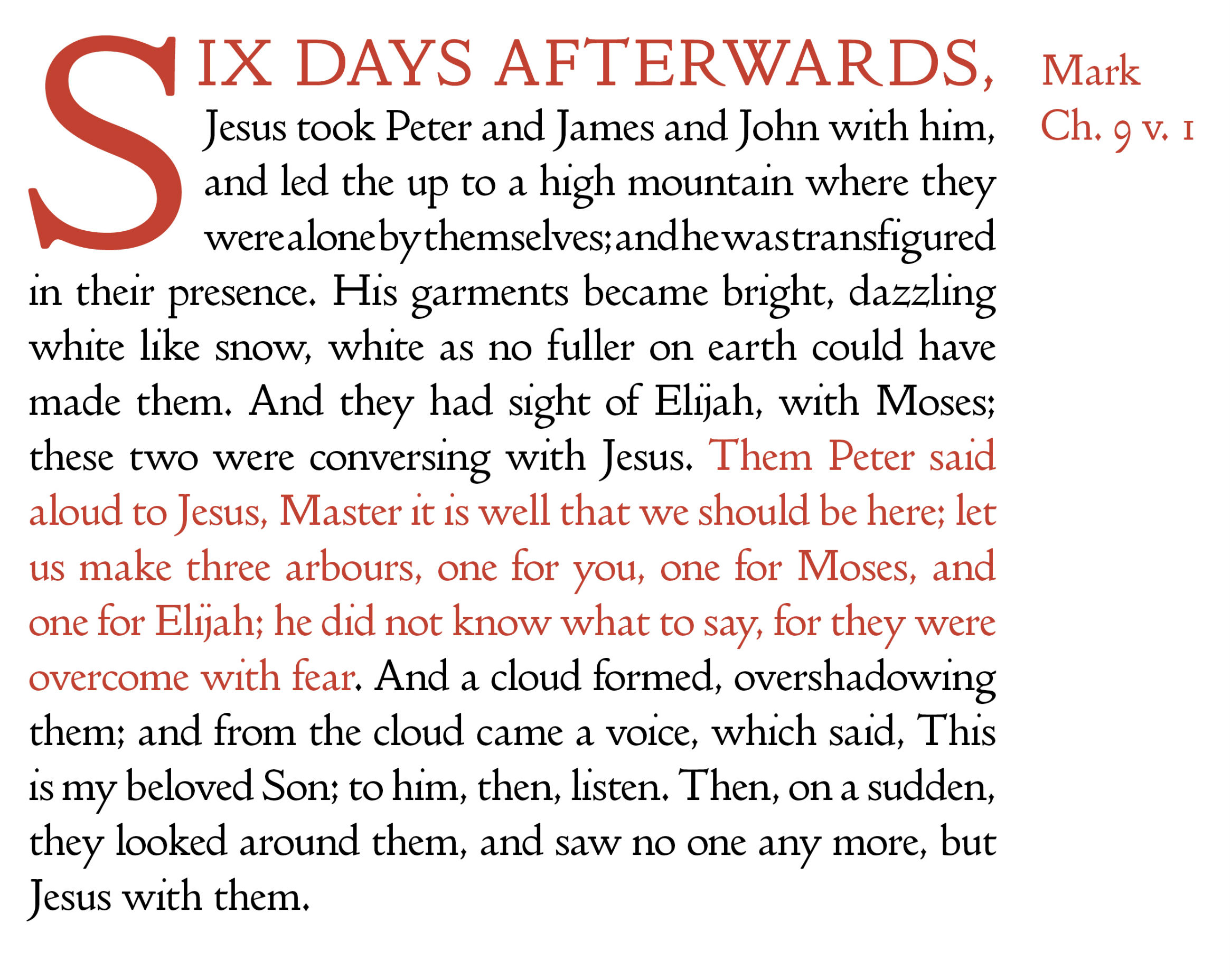The Transfiguration (Mark)