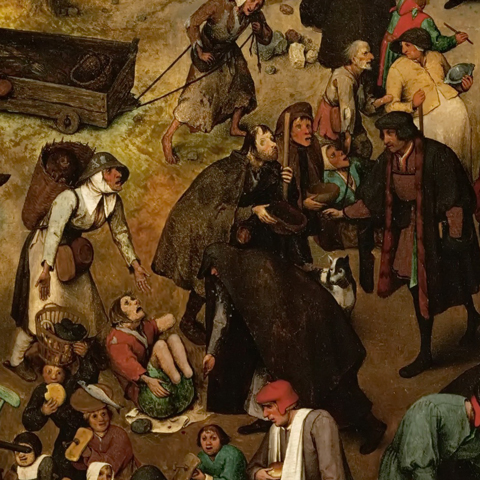 Detail: Bruegel, The Fight Between Carnival and Lent (1559)