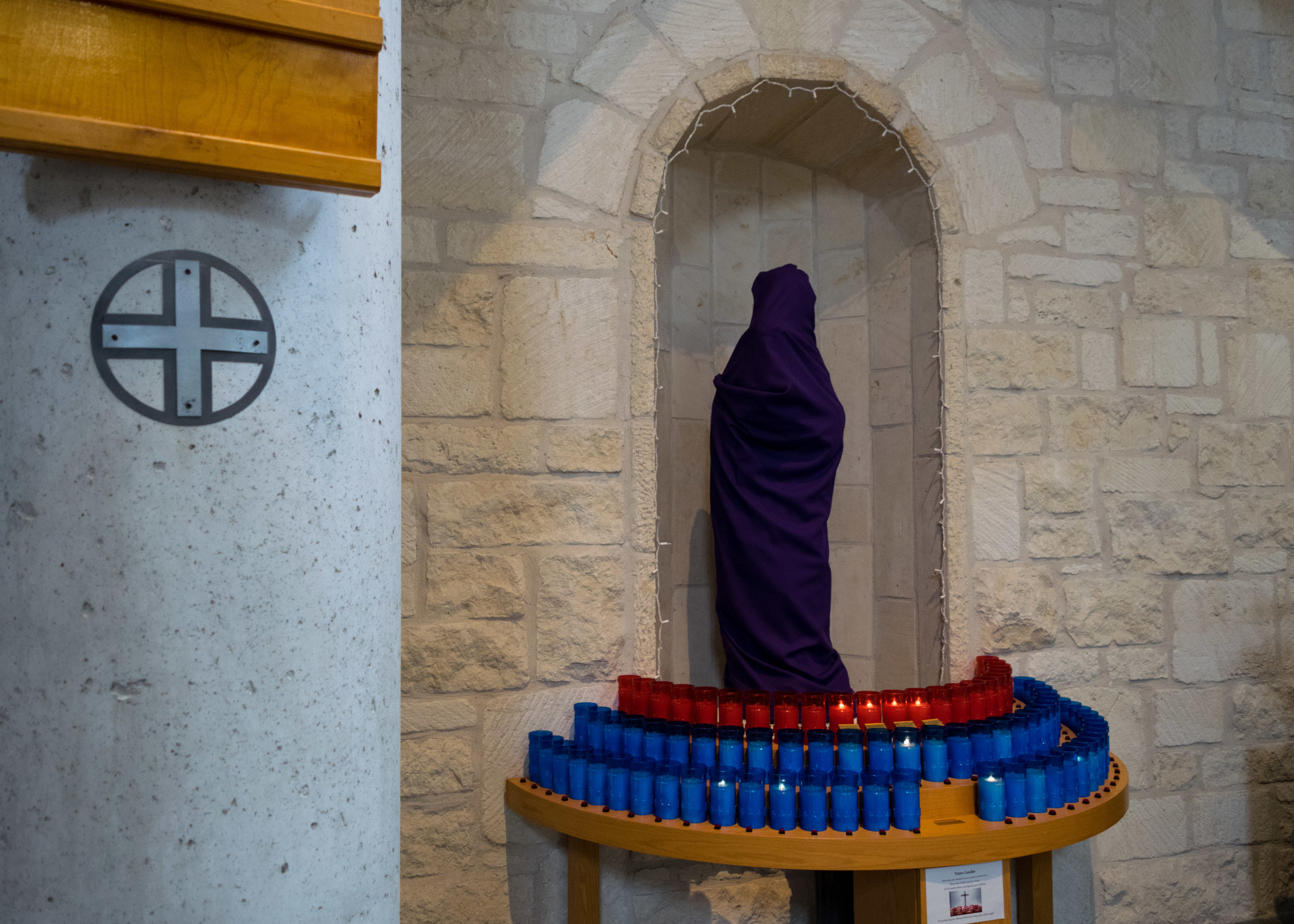 Lenten Veils at St Albert the Great, Austin