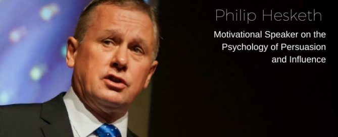 Philip Hesketh    Motivational Speaker from the UK.     On his annual Australian pilgrimage helping people to understand the artistry of persuasion and influence.