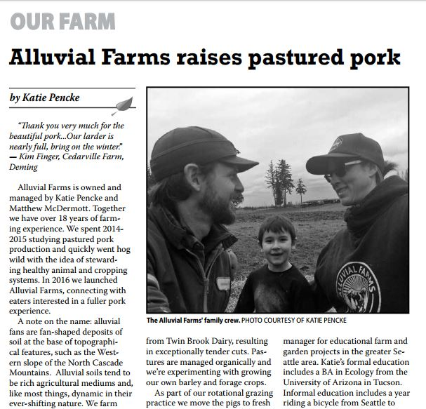 Alluvial Farms profile - in July issue of Grow Northwest! Thanks Becca and friends for helping us get the word out!