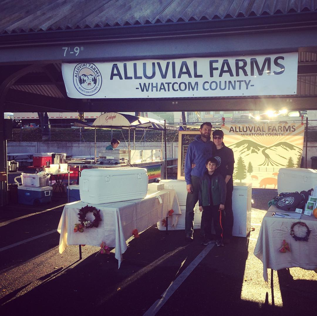 Alluvial pork now available at Bellingham Farmers Market. Every Saturday from 10 am to 3 pm, third Saturday of the month January - March. Fill your belly with nutritious and delicious Alluvial Farms pastured pork.